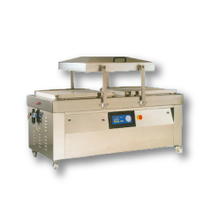 Swing Lid Double Chamber Stainless Steel Vacuum Packaging Machine with Pneumatically Operated Automatic Lid